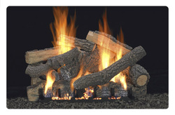 Peterson Real Fyre Golden Oak Designer Plus Vented Gas Logs Set