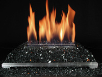 glass fire for ventless gas fireplace burner designs - Ventless ...