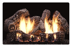 Pictureventless gas log fireplace charred oak