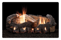 aged oak ventless gas fireplace log